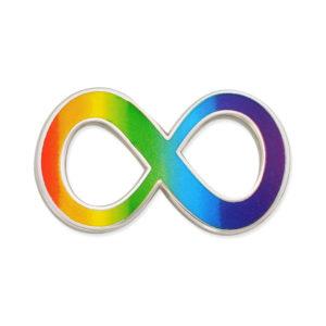Infinity rainbow pin